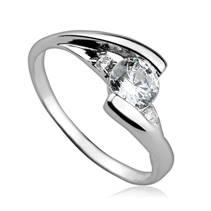 Stříbrný zásnubní prsten se zirkony ZB82229