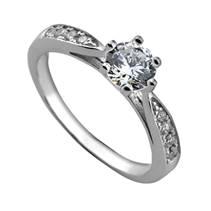 Stříbrný zásnubní prsten se zirkony ZB82723