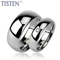 TIS0001 + TIS0005 Tistenové snubní prsten - pár