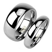 TIS0001 Tistenové snubní prsten 4+8 mm  - pár