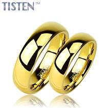 TIS0002 Tistenové snubní prsteny zlacené - pár