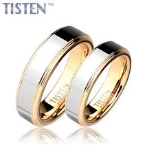TIS0006 Tistenové snubní prsteny zlacené - pár