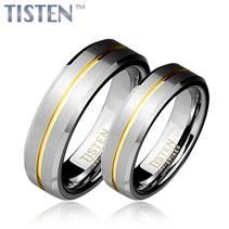 TIS0008 Tistenové snubní prsteny s linkou - pár
