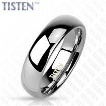 Tistenový prsten leštěný, šíře 6 mm