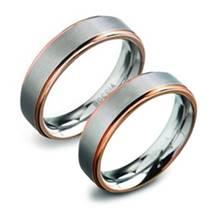 Titanové snubní prsteny - pár