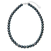 Tmavý perlový náhrdelník Crystals from Swarovski®