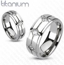 TT1014 Titanové snubní prsteny - pár