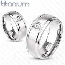 TT1020 Titanové snubní prsteny - pár