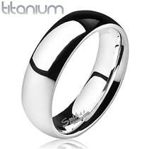 TT1025 Pánský snubní prsten titan, šíře 6 mm