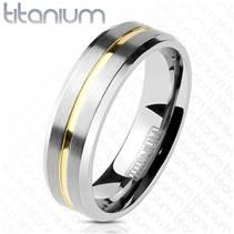 TT1043 Pánský snubní prsten titan