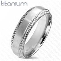 TT1044 Pánský snubní prsten titan