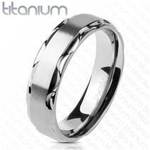 TT1045 Pánský snubní prsten titan