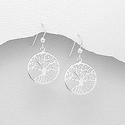 f17094c21 Visací stříbrné náušnice - strom života | Šperky4U.eu