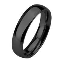Wolframový prsten černý, šíře 6 mm