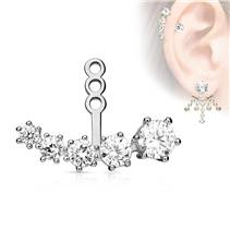 Zanáušnice - ozdobná část k puzetové náušnici na pravé ucho