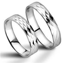 ZB52520 Stříbrné snubní prsteny - pár