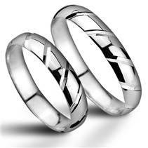 ZB52700 Stříbrné snubní prsteny - pár