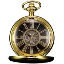 Zlacené mechanické kapesní hodinky v dárkovém balení