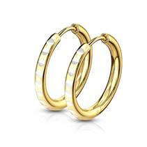 Zlacené ocelové náušnice kruhy