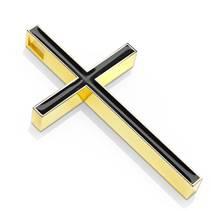 Zlacený ocelový přívěšek - kříž