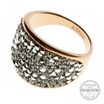 Zlacený ocelový prsten s krystaly Crystals from Swarovski®, Crystal