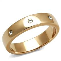 Zlacený ocelový prsten se zirkony
