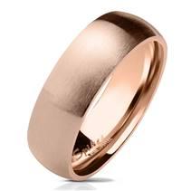 Zlacený prsten matný, šíře 6 mm