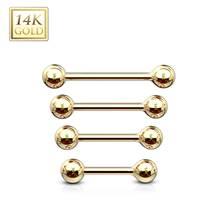 Zlatý piercing činka, tyčka 1,2 mm - Au 585/1000